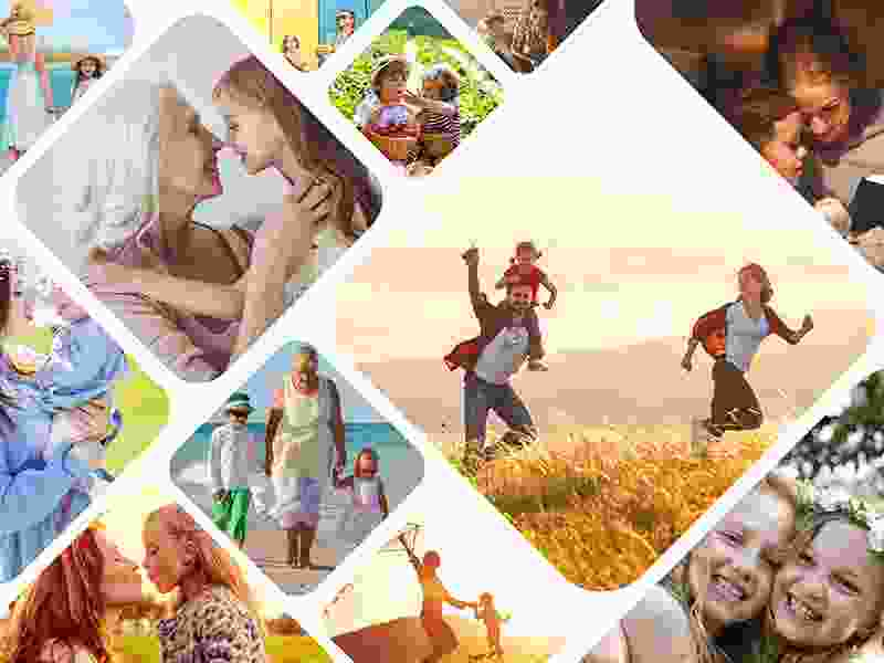 Photo Puzzle with Artistic grid collage 12 Photos