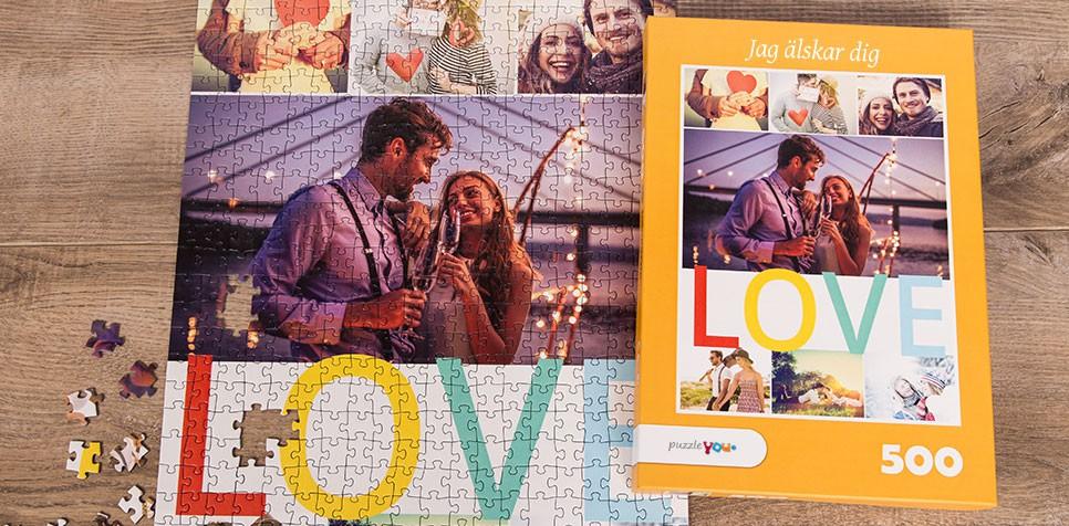 Teaser: Fotopussel med layout med teman