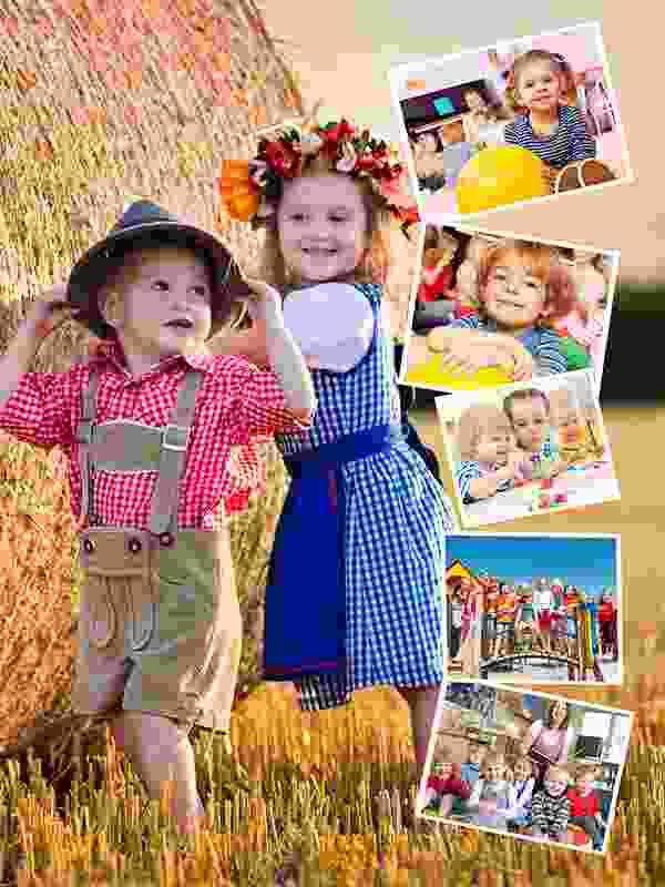 Pusselcollage med eget foto som bakgrund för 6 bilder