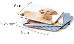 Memospelkortens storlek