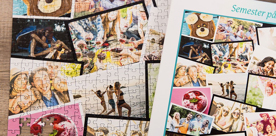 Teaser: Fotopussel med överlappande layout