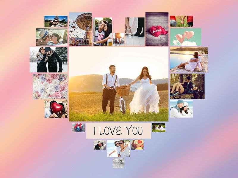 Fotopussel med teman collage för 22 bilder