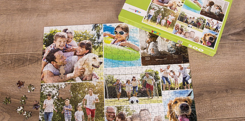 Teaser: Fotopussel med enkel layout collage