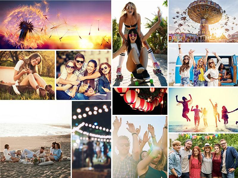 Fotopusselcollage med enkelt layout med 12 bilder