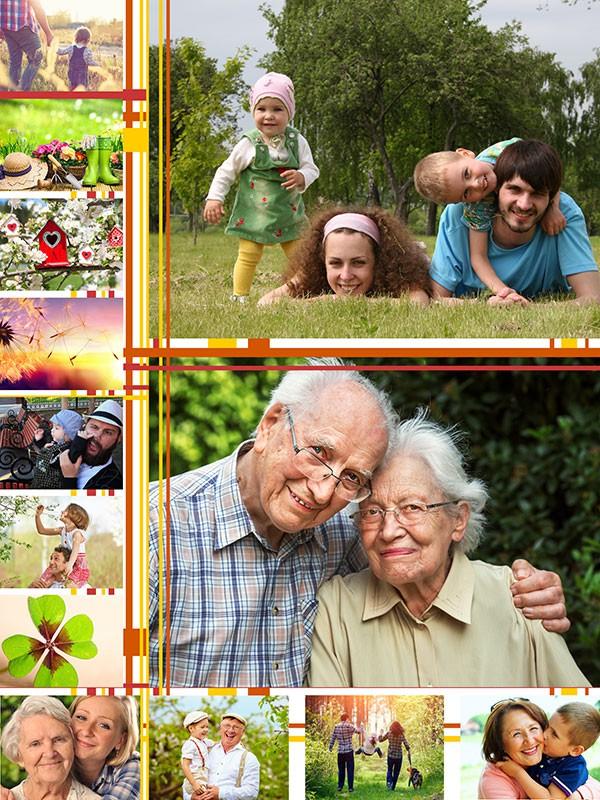 Fotopussel med illustrationer för 13 Bilder