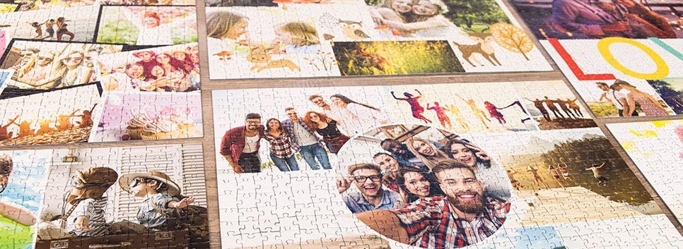 Fotopussel collage layoutöversikt